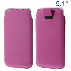 Rose Pull Tab Leather Pouch Cover for Samsung Galaxy S5 G900/ S4 I9500/ S III mini VE I8200 Etc