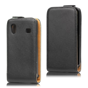 Magnetic Flip Genuine Split Leather Case for Samsung Galaxy Ace S5830