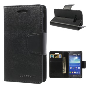 Black Mercury Goospery Sonata Diary Flip Leather Case for Samsung Galaxy Ace 3 S7275 S7272 S7270