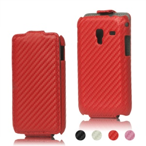Carbon Fiber Leather Hard Case for Samsung Galaxy Ace Plus S7500