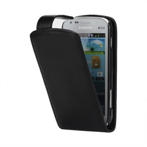 Vertical PU Leather Flip Case Cover for Samsung Galaxy S Duos S7562