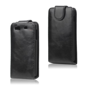 Glossy Leather Flip Case for Samsung Wave 3 / III S8600