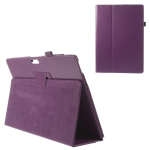 For Microsoft Surface Pro 3 Litchi Grain Magnetic Flip Leather Case - Purple