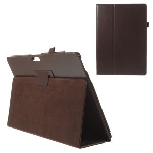 For Microsoft Surface Pro 3 Litchi Grain Magnetic PU Leather Cover - Coffee