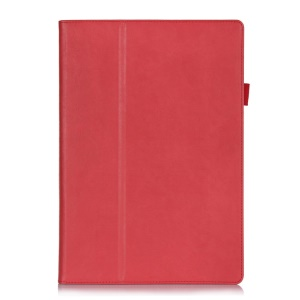 Magnetic Leather Shell w/ Stand & Card Slots for Microsoft Surface Pro 3 - Red