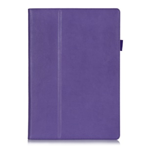 Leather Magnetic Case w/ Stand & Card Slots for Microsoft Surface Pro 3 - Purple