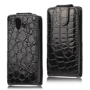 Crocodile Leather Flip Case for Sony Ericsson Xperia Ray ST18i ST18a