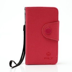 MLT Premium TPU Leather Wallet Case for Sony Xperia miro ST23i ST23a - Rose