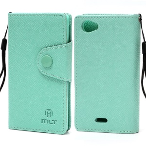 MLT Wallet Leather Case with TPU Holder for Sony Xperia J ST26i ST26a - Green