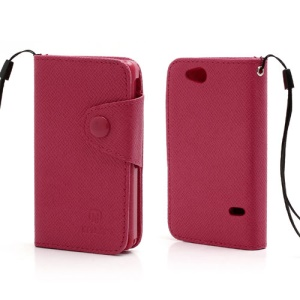 Folio MLT Leather Wallet Case Cover for Sony Xperia Go ST27i ST27a - Rose