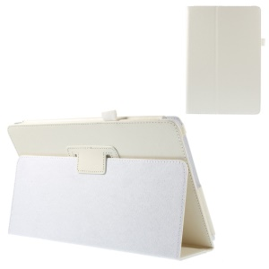 White Litchi Texture Flip Leather Stand Cover w/ Elastic Loop for Acer Aspire Switch 10