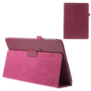 Rose Litchi Texture Stand Leather Case w/ Elastic Loop for Acer Aspire Switch 10