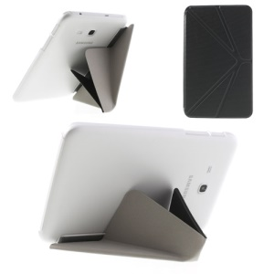 Grey Origami Leather Stand Case for Samsung Galaxy Tab 3 7.0 Lite T110 T111