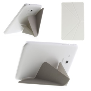 White Origami Leather Stand Case for Samsung Galaxy Tab 3 7.0 Lite T110 T111