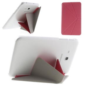 Pink Origami Leather Cover w/ Stand for Samsung Galaxy Tab 3 7.0 Lite T110 T111