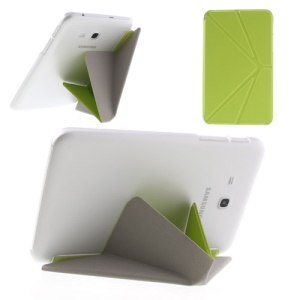 Green Origami Leather Case w/ Stand for Samsung Galaxy Tab 3 7.0 Lite T110 T111