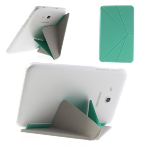 Cyan Origami Leather Case for Samsung Galaxy Tab 3 7.0 Lite T110 T111 w/ Stand