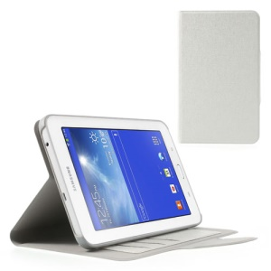 Oracle Grain Protective Leather Case for Samsung Galaxy Tab 3 7.0 Lite T110 T111 - White