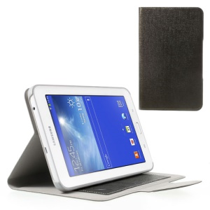 Oracle Grain Magnetic Leather Shell for Samsung Galaxy Tab 3 7.0 Lite T110 T111 - Coffee