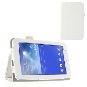 White Crazy Horse PU Leather Stand Case for Samsung Galaxy Tab 3 7.0 Lite T110 T111