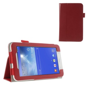 Red Crazy Horse Protective Leather Shell for Samsung Galaxy Tab 3 7.0 Lite T110 T111