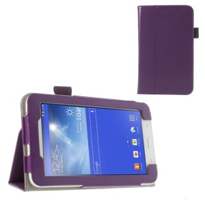 Purple Crazy Horse Leather Cover Case for Samsung Galaxy Tab 3 7.0 Lite T110 T111