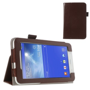 Brown Crazy Horse Leather Stand Case for Samsung Galaxy Tab 3 7.0 Lite T110 T111