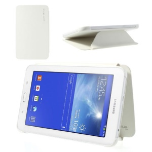 Leather Notebook Cover for Samsung Galaxy Tab 3 7.0 Lite T110 T111 - White