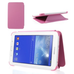 Slim Leather Book Cover for Samsung Galaxy Tab 3 7.0 Lite T110 T111 - Pink