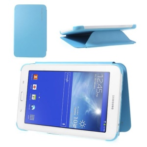 Slim Leather Book Cover Case for Samsung Galaxy Tab 3 7.0 Lite T110 T111 - Baby Blue
