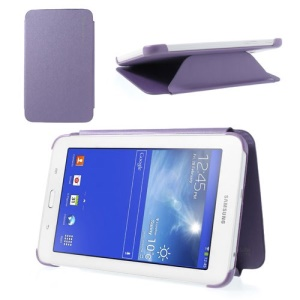 For Samsung Galaxy Tab 3 7.0 Lite T110 T111 Slim Leather Book Cover - Purple