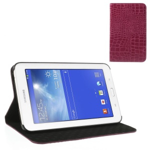 Rose for Samsung Galaxy Tab 3 7.0 Lite T110 T111 Crocodile Leather Skin Cover w/ Stand