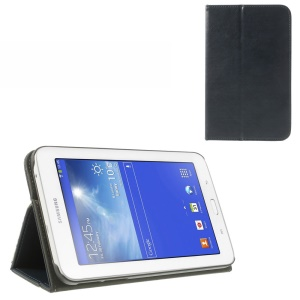 Dark Blue Leather Card Slot Cover w/ Elastic Band for Samsung Galaxy Tab 3 7.0 Lite T110 T111