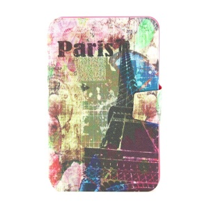 Smart Leather Rotating Stand Case for Samsung Galaxy Tab 3 Lite 7.0 T110 - Paris Eiffel Tower Print