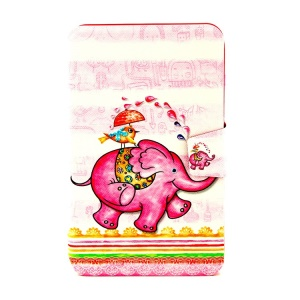 Rotating Stand Smart Leather Cover for Samsung Galaxy Tab 3 Lite 7.0 T110 - Funny Elephant & Bird