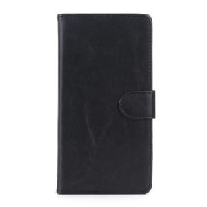 Business Wallet Leather Flip Case w/ Stand for Sony Xperia T2 Ultra D5306 / Ultra dual D5322 - Black