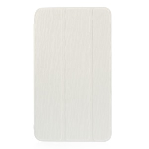 White for Samsung Galaxy Tab 4 7.0 T230 T231 T235 Toothpick Grain Leather Tri-fold Stand Case