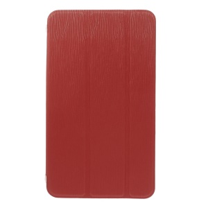 Red for Samsung Galaxy Tab 4 7.0 T230 Toothpick Grain Leather Tri-fold Stand Case