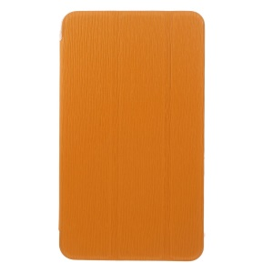 Orange for Samsung Galaxy Tab 4 7.0 T231 Toothpick Grain Leather Tri-fold Stand Cover