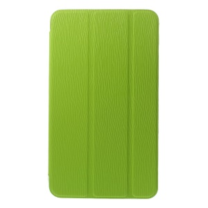 Green for Samsung Galaxy Tab 4 7.0 T235 Toothpick Grain Leather Tri-fold Stand Shell
