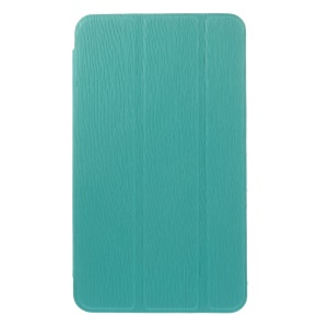 Blue for Samsung Galaxy Tab 4 7.0 T235 Toothpick Grain Leather Tri-fold Stand Shell