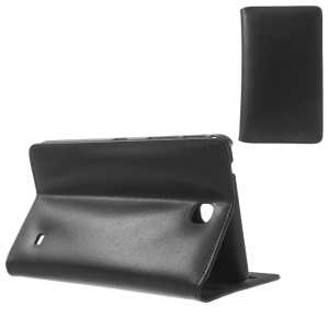 Black Doormoon Genuine Leather Stand Case for Samsung Galaxy Tab 4 7.0 T230 T231 T235