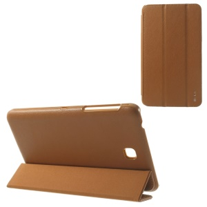 BELK Tri-fold Stand Smart Leather Shell for Samsung Galaxy Tab 4 7.0 T235 - Brown