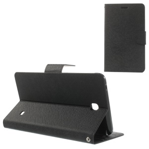 Mercury Goospery Fancy Diary Leather Case for Samsung Galaxy Tab 4 7.0 T230 T 231 T235 - Black