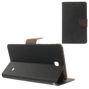 Mercury Goospery Fancy Diary Leather Case for Samsung Galaxy Tab 4 7.0 T230 - Black / Brown