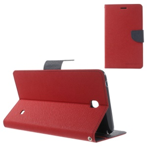 Mercury Goospery Fancy Diary Leather Case for Samsung Galaxy Tab 4 7.0 T230 - Red