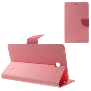 Mercury Goospery Fancy Diary Leather Cover for Samsung Galaxy Tab 4 7.0 T231 - Pink