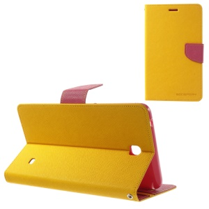 Mercury Goospery Fancy Diary Leather Cover for Samsung Galaxy Tab 4 7.0 T231 - Yellow