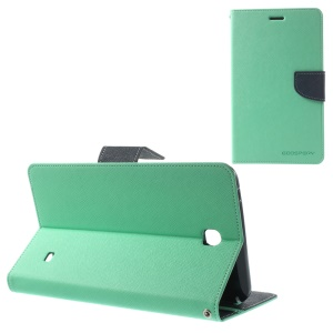 Mercury Goospery Fancy Diary Leather Cover for Samsung Galaxy Tab 4 7.0 T231 - Cyan