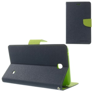 Mercury Goospery Fancy Diary Leather Shell for Samsung Galaxy Tab 4 7.0 T235 - Deep Blue